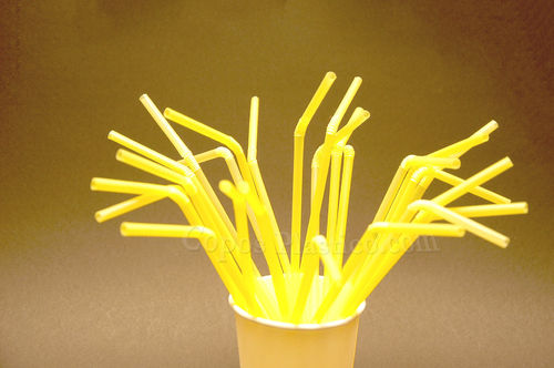 Palhinhas Flexiveis embalagem de 1000 uni Amarelo