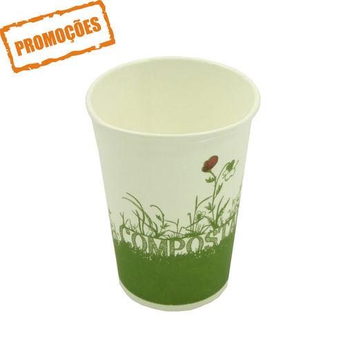 Copo Cartão Green Cup - 100 % Biodegradável 330ml - Pacote 50 unidades