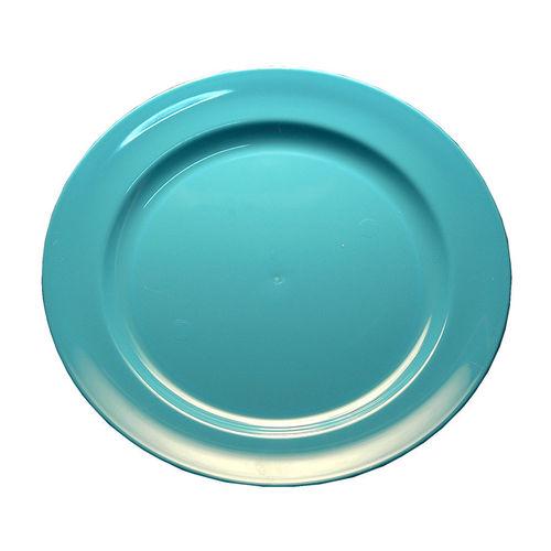 Prato Plástico Raso 23cm (Rigido) PS - Cx. Completa 100 Unidades Azul