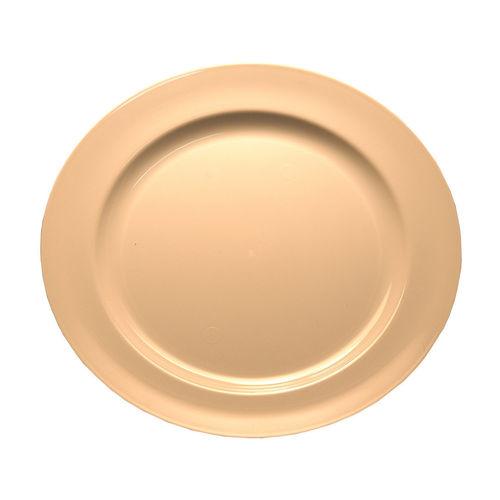 Prato Plástico Raso 23cm (Rigido) PS - Cx. Completa 100 Unidades Branco