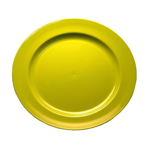 Prato Plástico Raso 23cm (Rigido) PS - Cx. Completa 100 Unidades Verde