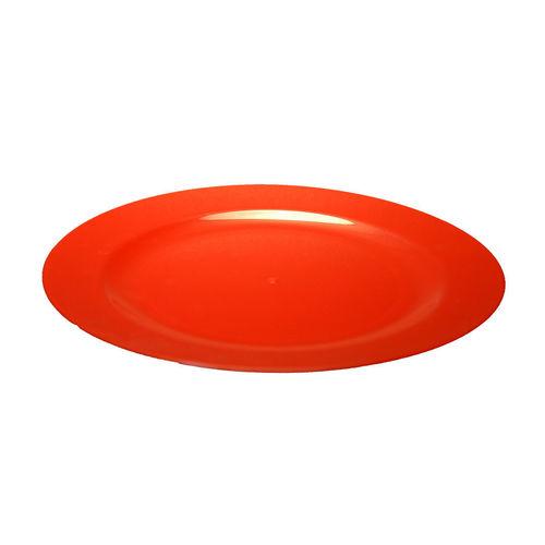 Prato Plástico Raso 23cm (Rigido) PS - Cx. Completa 100 Unidades Vermelho