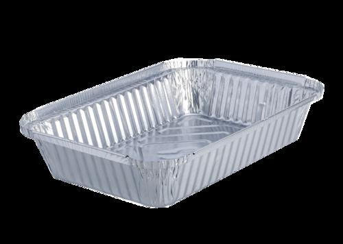 Embalagem de alumínio Rectangular 980ml c/ Tampa de cartão - Pacote 100 unidades