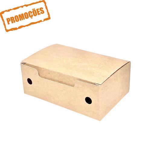 Caixa Para Fritos Média Kraft - Pacote 25 unidades