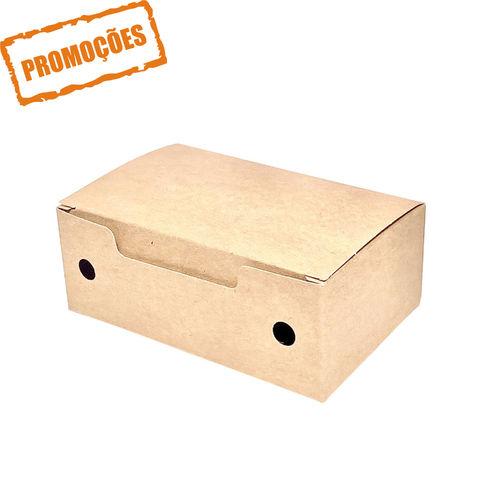 Caixa Para Fritos Pequena Kraft - Pacote 25 unidades