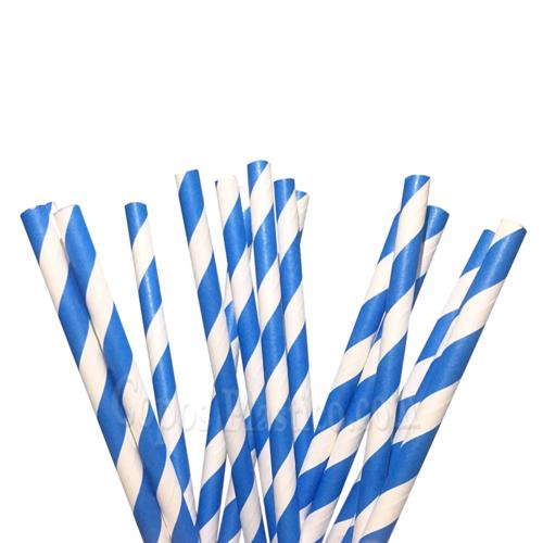 Palhinha Papel Recta Azul - Pacotes de 100 unidades