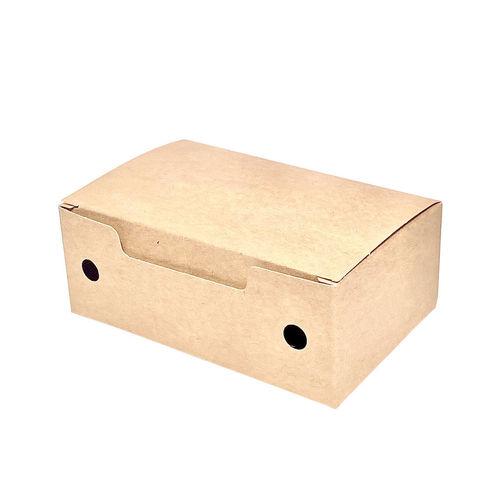 Caixa para Fritos Take Away Pequena Kraft - Pacote 50 unidades